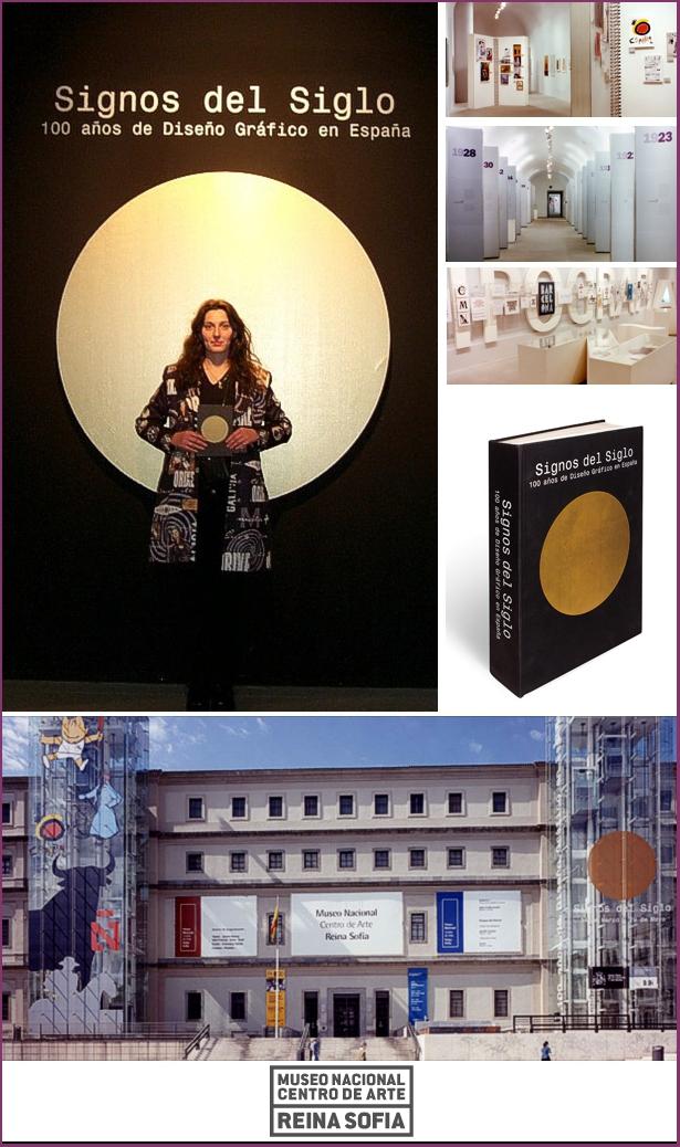 Anna María López López en la inauguración de la exposición de Diseño Gráfico en el Reina Sofia