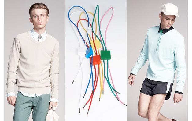 Bolo ties de plástico y formas minimalistas de la firma ACNE