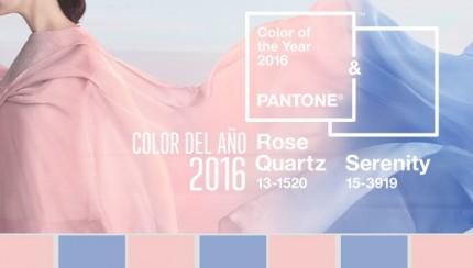 El color del año 2016 es el resultado de la combinación del Rosa Cuarzo y del Azul Serenidad