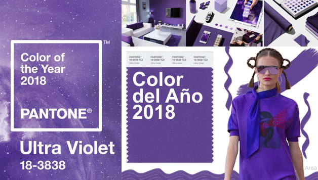 El Color del Año 2018 es el Ultra VIOLETA - PANTONE ULTRA VIOLET