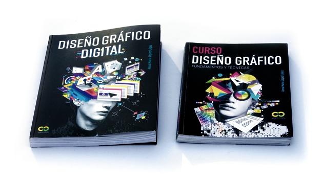 El libro DISEÑO GRÁFICO DIGITAL junto a su antecesor, el bestseller Curso Diseño Gráfico, Fundamentos y Técnicas