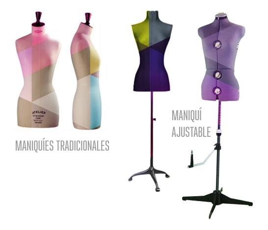 Tipos de maniquí tradicional ( fijo y ajustable manualmente )