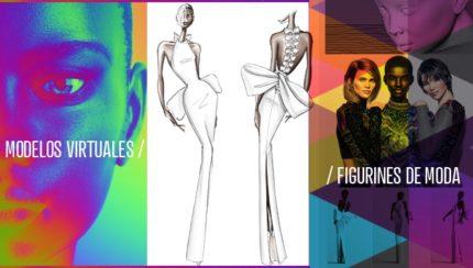 Modelos virtuales y figurines de moda