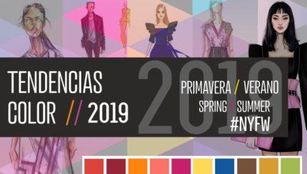 Figurines de moda con las tendencias de color 2019