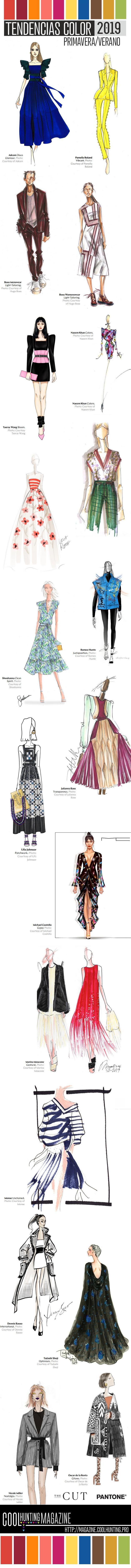 Tendencias color 2019 en 20 diseños de moda