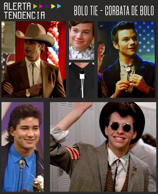 Bolo ties  en  series de TV de distintas épocas