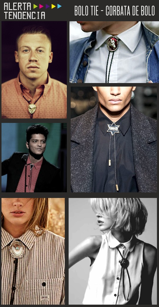 Bolo ties en celebrities y pasarela