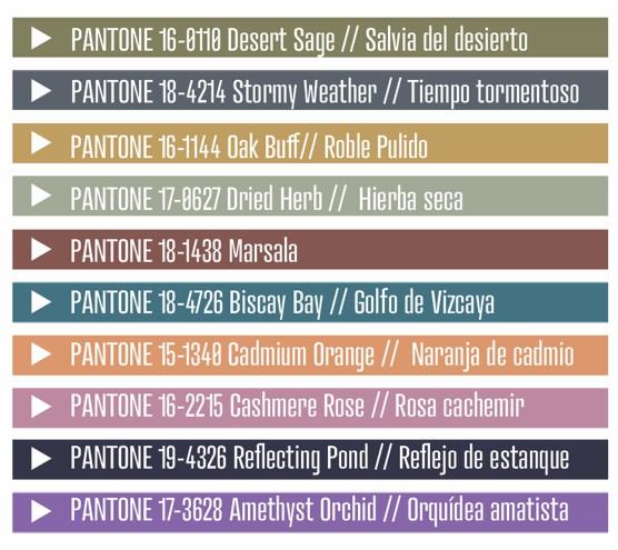 Colores Tendencia Otoño 2015