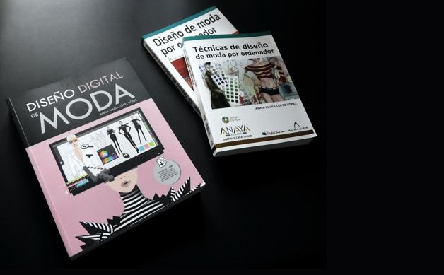 Las dos ediciones anteriores del libro DISEÑO DIGITAL DE MODA