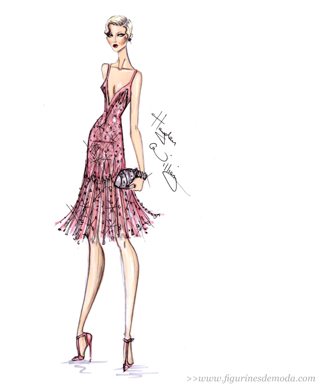 Figurín de moda de Hayden Williams