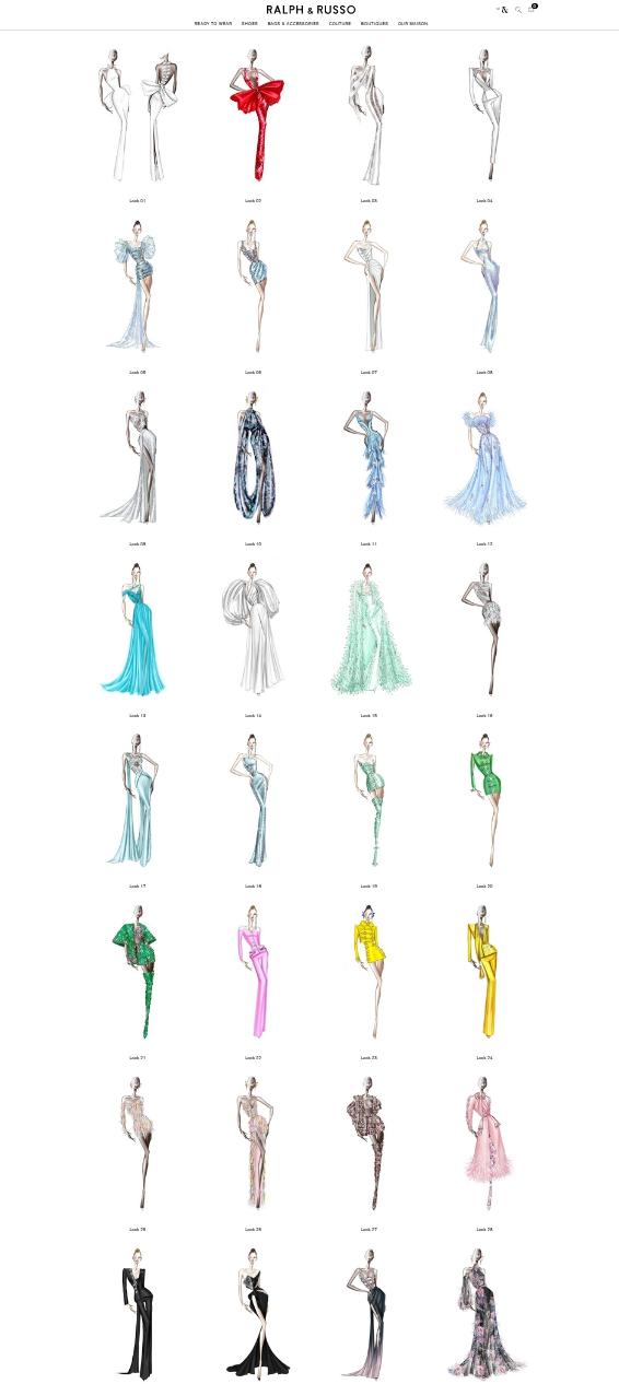 Figurines de moda de Ralph and Russo