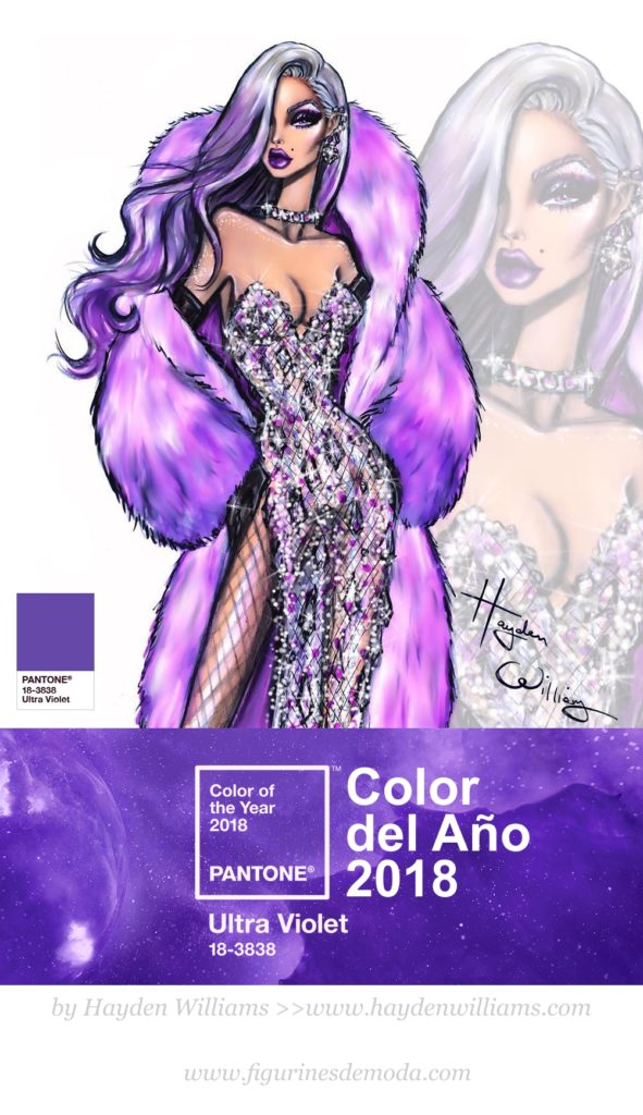 El Color del Año 2018 - Ultra Violeta - Ilustrado por Hayden Williams