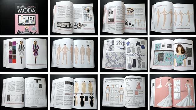 Páginas de ejemplo del libro Diseño Digital de Moda