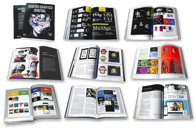 Páginas de ejemplo del libro DISEÑO GRÁFICO DIGITAL