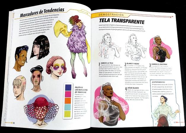 Páginas interiores del libro Sci-Fi Fashion